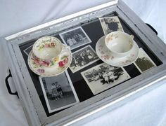 picture frame turned into a serving tray