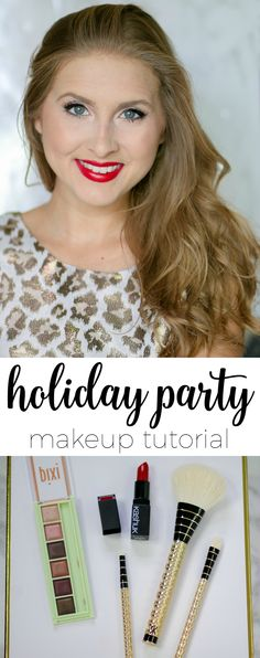 The holiday party season has officially begun! This post features three easy and affordable holiday party makeup tutorials that are perfect for every occasion! P.S. We're only using drugstore makeup to keep things affordable :)