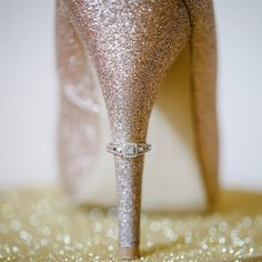 Loving this sparkly ring shot from today's real wedding! Photo by @vanessahicksphotography / Shoes: @paylessshoesource #sparkle #glitter #ringshot #realwedding // See this post on Instagram: http://ift.tt/2ggpsh4
