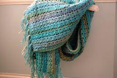 Modern Grace Design, crochet shawl