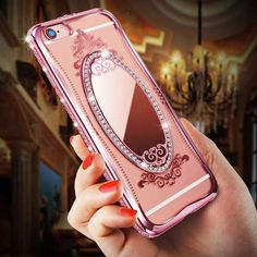 Luxury Diamond Mirror Case