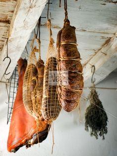 Ham and Kulen Stock Photo
