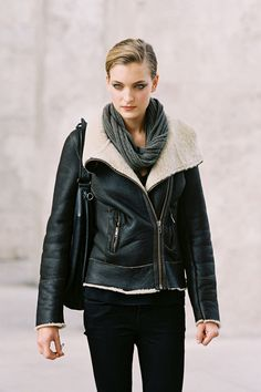 Ophelie Rupp (Viva), after Anne Valerie Hash, Paris #offduty (excuse me while I steal your jacket girl)