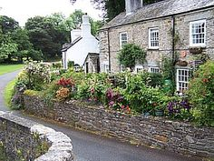 Cottages in Altarnun, Cornwall.