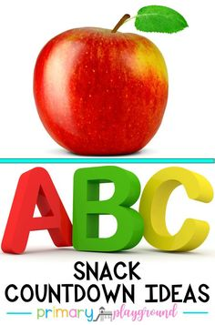 ABC Snack Countdown Ideas Whether you are just starting the school year off and teaching your little learners their letters or it's the end of the school year and you're counting down the days, we've gathered a whole list of snack ideas for the alphabet. #alphabet #alphabetactivities #alphabetsnack