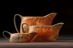 "Cathi Jefferson  |  Gravy boats in a ""Leaf"" design."