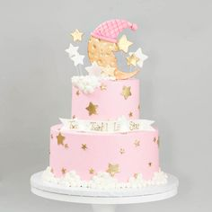 Adorable custom Designed baby shower cakes for the DC Metro region. Located in Montgomery county Maryland, Gaithersburg. Star Baby Showers, Baby Shower Parties, Girl Baby Shower Decorations, Baby Shower Cake For Girls, Baby Girl Cakes, Star Cakes, Birthday Cake Decorating, Twinkle Twinkle Little Star, Baby Birthday