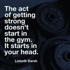 Strong Starts in the Mind: 5 Mental Tricks for the Gym and Life by Lisbeth Darsh - Eat to Perform