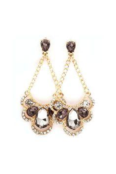 Antoinette Chandelier Earrings in Black Diamond