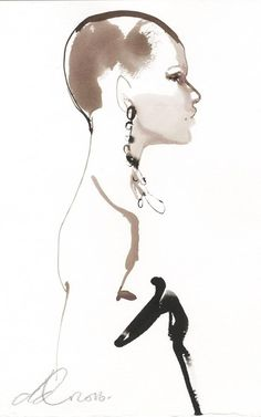 Saint Laurent illustration by David Downton