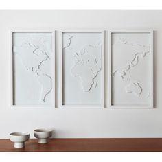 Quadro Mapster - Mapa Mundi com 3 peças - Umbra