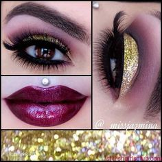 How to Apply Glitter Smokey Eyes for New Years Eve