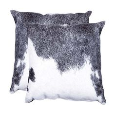 Natural Brand Gray & White Abstract Leather Square Throw Pillow (100 AUD) ❤ liked on Polyvore featuring home, home decor and throw pillows