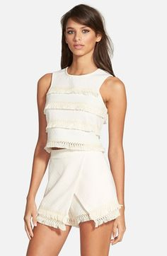 J.O.A. Tassel Crop Tank available at #Nordstrom
