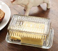 Glass Butter Dish #potterybarn