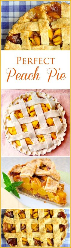 Perfect Peach Pie – a highlight of summer baking! This pie is an absolute must-have in our house every year at the height of summer peach season when they are at their sweet, juicy best.