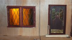 My little little dream: Фасад дома. Shows how the stain glass windows and the wrought iron and stain glass door made