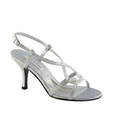 BRENDA-326 Women Glittery High Heels - Silver