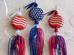 Patriotic  Mens Gift Fishing Lure 3pk by Luregasmic on Etsy, $17.00