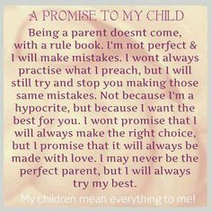 promise to my child