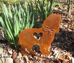 Cocker Spaniel Garden Stake - Metal Yard Art - Metal Garden Art - Pet Memorial