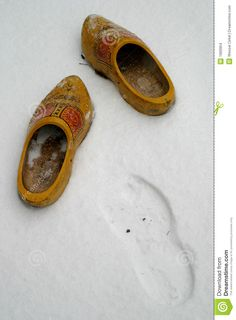 Wooden Shoes in the Snow
