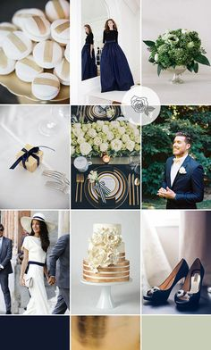 Navy and Gold Wedding Inspiration | Style Focused Wedding Venue Directory | Coco Wedding Venues