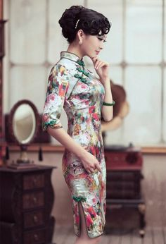#2 Shoots based on extravagant shoots like this?  Cultural appropriation, White female model wearing garments that - More modern take on the cheongsam (qipao), once again making use of the red and golds, may be easier to get my hands on and shoot than the traditional ones.