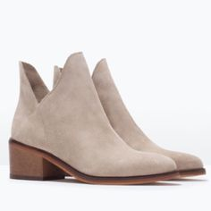"""ZARA Trafaluc Sand Booties • ZARA Trafaluc 