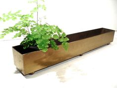 Long Brass Planter Tray  Metal Window Box by perfectpatina on Etsy