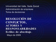 21.Tipos De Conflictos by decisiones via slideshare
