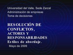 21.Tipos De Conflictos by decisiones via slideshare