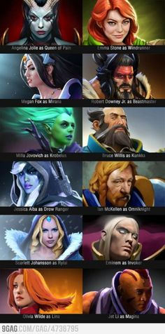 Actors as Dota 2 heroes!! Wow amazing they do look very alike