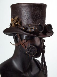 steampunk mask and hat