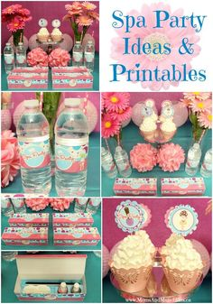 Spa Party Ideas including printables, favor boxes, DIY decorating ideas and more for kids.