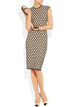 Alexander McQueen|Honeycomb-intarsia stretch-knit dress#fashion