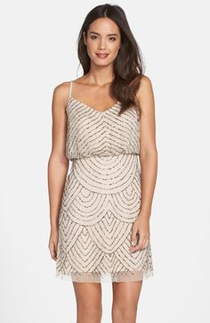 Adrianna Papell Sequin Mesh Blouson Dress (Regular & Petite) available at #Nordstrom