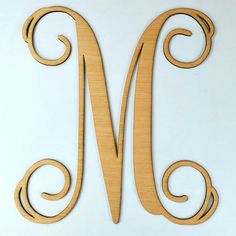 SALE***_M_Home Decor,20 inch Wooden Monogram, Wall Art, Initial monogram,Unpainted, Unfinished,Wedding Decor on Etsy, $15.95