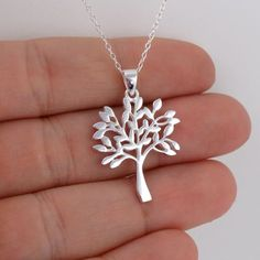 Tree of Life Pendant Necklace - 925 Sterling Silver