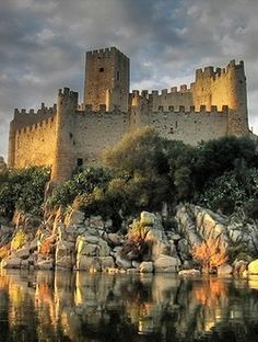 Almourol Castle, Portugal.so awesome to see old castles ,and islands from Portugal.