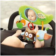 Livraison gratuite- la mode infantile bébé enfant miroir. poupée de peluche jouets éducatifs chouettecollier tour, volantes. poussette de bébé accessoires