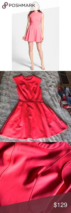 "Bright Pink Ted Baker Nistee Skater Dress This dress has stretch. This has a small small mark on the front of the dress as shown in the picture but i believe it can be cleaned. Length: 33"" Waist: 12"" have a bunch of items in my closet so feel free to bundle🛍 I ship Monday-Saturday each day by 4pm📦💌 If making an offer, please be reasonable as Poshmark takes a hefty 20% of all items over $15 or a flat fee of $2.95 if the item is under $15😊 Smoke free home🚭 Always sending good vibes and…"