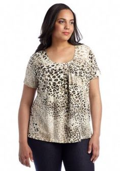 Ruby Rd  Plus Size Must Have Leopard Top