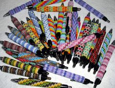 Beaded Writing Pen Peyote Stitch Delica Czech Glass Seed Beads Foray Gelio Gel Ink Pen Colors Office Wedding Party Favor Gift by SuVasi on Etsy https://www.etsy.com/listing/232985467/beaded-writing-pen-peyote-stitch-delica