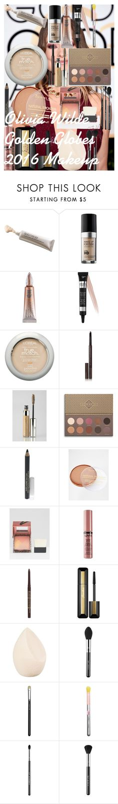 Olivia Wilde Golden Globes 2016 Makeup by oroartye-1 on Polyvore featuring beauty, Laura Mercier, MAKE UP FOR EVER, It Cosmetics, Chantecaille, Guerlain, MAC Cosmetics, Sigma, Benefit and Urban Decay