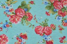 Elsbeth Floral Jersey Knit Fabric : Banberry Place