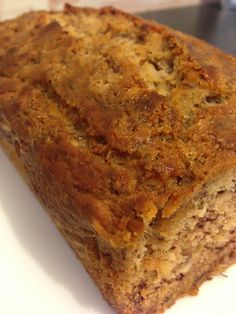 Vegetarian Gluten free · My Gluten Free banana bread tastes amazing & you can eat as much as you want! It's gluten free, dairy free, refined sugar free & fat free too! Sugar Free Baking, Sugar Free Desserts, Sugar Free Recipes, Gluten Free Desserts, Gluten Free Recipes, Super Healthy Banana Bread, Gluten Free Banana Bread, Banana Bread Recipes, No Sugar Banana Bread