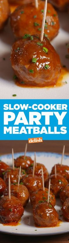 Slow-Cooker Party Meatballs