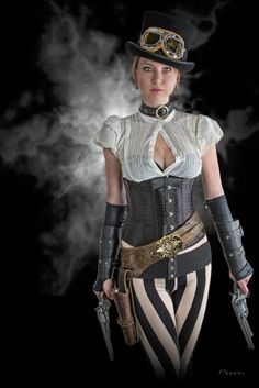 A guide to Steampunk fashion: costume tutorials, Steampunk clothing guide, cosplay photo gallery, updated calendar of Steampunk events, and more. Steampunk Cosplay, Chat Steampunk, Mode Steampunk, Style Steampunk, Victorian Steampunk, Steampunk Clothing, Steampunk Fashion, Steampunk Pants, Steampunk Outfits