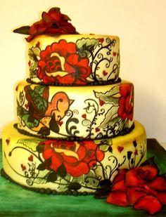 Pin By Dena J On Let Them Eat Cake Pinterest - Rockabilly birthday cake